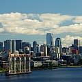 Seattle Skyline by Phyllis Spoor