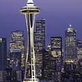 Seattle Space Needle 0200 by Bob Neiman