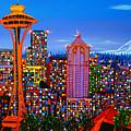 Seattle Space Needle 5 by Dunbar's Modern Art
