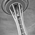 Seattle Space Needle Bw by Jerry Fornarotto