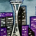 Seattle Space Needle Cityscape by Monica Resinger