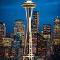 Seattle Space Needle by Rick Takagi