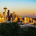 Seattle Sunset by Dave Files