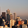 Seattle Sunset Panorama by Jim Chamberlain