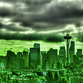 Seattle - The Emerald City Panorama by David Patterson