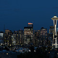 Seattle Washington Space Needle And City Skyline At Night by Brandon Alms