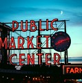 Seattle's Public Market Center At Sunset by Mountain Dreams