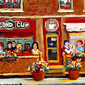 Second Cup Coffee Shop by Carole Spandau
