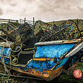 An Old Boat Turned In A Fyke Storage Place. Second Life.i Found This Near The Sea In Uig, Scotland. by Ineke Mighorst