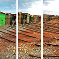 Second Valley Boat Sheds by Stephen Mitchell
