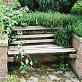 Secret Garden Bench by Lauri Novak