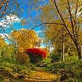 Secret Path At Lafayette Park Landscape by Debbie Fenelon