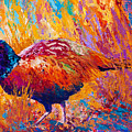 Secrets In The Grass - Pheasant by Marion Rose
