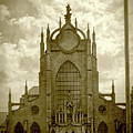 Sedlec Cathedral Sepia by Sharon Popek
