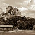 Sedona Mountain Landscape - Sepia Edition by Gregory Ballos
