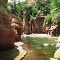 Sedona River Rock Oak Creek by Ted Pollard