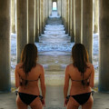 Seeing Double, Huntington Beach, California by Don Schimmel