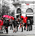 Seeing Red In Prague by John Rizzuto