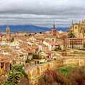 Segovia Cathedral View by Joan Carroll