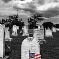Selected Color Flag For Memorial Day In Uniontown Cemetery Maryland by James Brunker