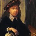 Self Portrait 1635 by Dou Gerrit