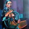 Self Portrait 3 by Carmen Stanescu Kutzelnig