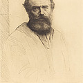Self-portrait, 3rd Plate by Alphonse Legros