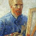 Self Portrait As An Artist by Vincent Van Gogh