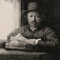 Self-portrait Drawing At A Window by Rembrandt