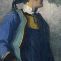 Self-portrait In Bretonnian Garb by Franz Marc