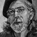 Self Portrait In Grey by Dennis Tawes