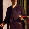 Self Portrait In Studio 1893 by Bocklin Arnold