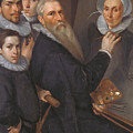 Self Portrait Of The Painter And His Family by Jacob Willemsz Delff the Elder