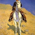 Self Portrait On A Horse 1890 by Remington Frederic