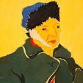Self Portrait With Bandaged Ear. After Vincent Van Gogh by Vitali Komarov