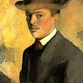 Self Portrait With Hat by August Macke