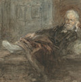 Self Portrait With Injured Foot by Jozef Israels