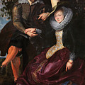 Self Portrait With Isabella Brandt, His First Wife, In The Honey by Peter Paul Rubens