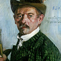 Self Portrait With Tyrolean Hat by Lovis Corinth