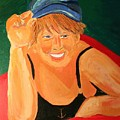 Self Potrait Of Artist Shellie Gustafson by Shellie Gustafson