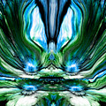 Self Reflection - Blue Green by Artistic Mystic