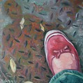 Selfportrait Red Shoe by Aleksandra Buha