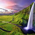Seljalandsfoss Waterfall by David Dehner