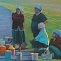 Sellers Of Apples by Alexander Chernitsky
