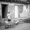 Selling Peppers In Trinidad Cuba Bw by Joan Carroll