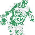 Semi Ojeleye Boston Celtics Pixel Art 2 by Joe Hamilton