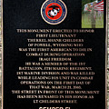 Semper Fi To The 1st Man Down In Iraqi Freedom Plaque by Thomas Woolworth