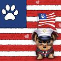 Semper Fidelis Yorkie Marine by Catia Lee