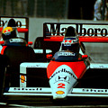 Senna Chasing Prost ... by Paolo Govoni