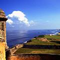 Sentry Box And Sea Castillo De San Cristobal by Thomas R Fletcher